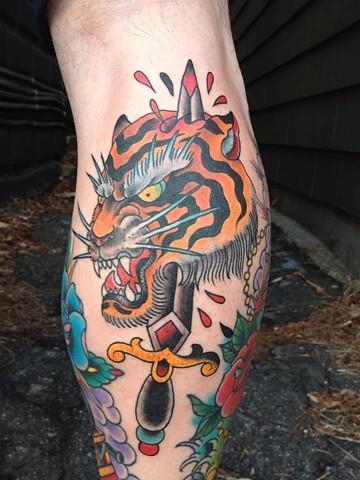 tiger dagger tattoo
