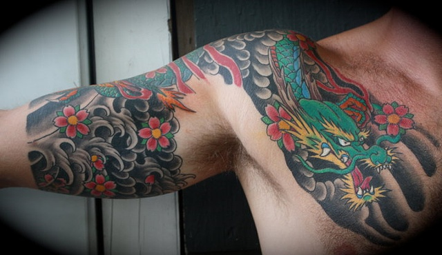 another angle on dragon arm chest