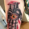 all seeing hand tattoo