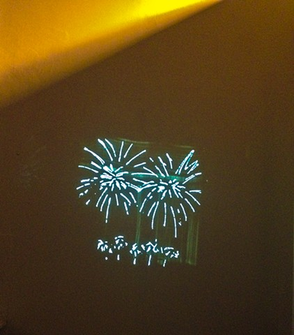 Fireworks, Yellow Curtain