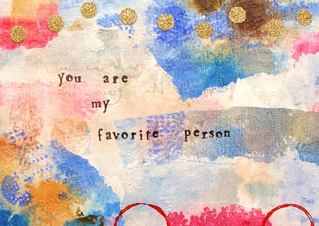 you are my favorite person