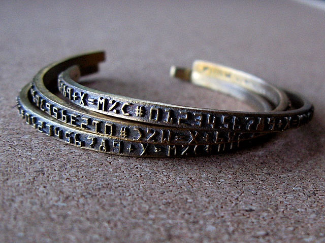 Antiqued Number Band Cuffs