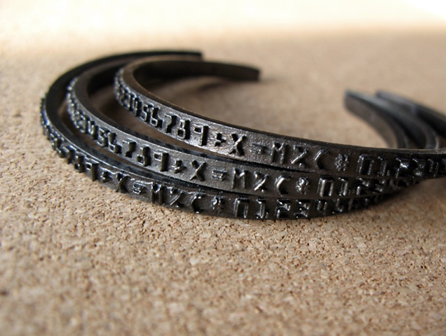 Black Number Band Cuffs