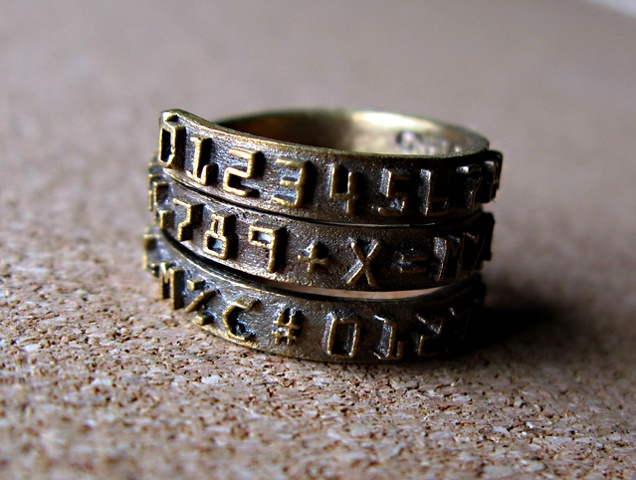 Antiqued Number Band Wrap Ring