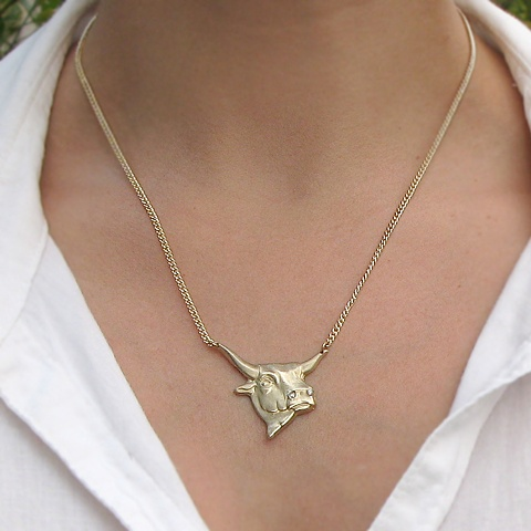Gold Bull Necklace