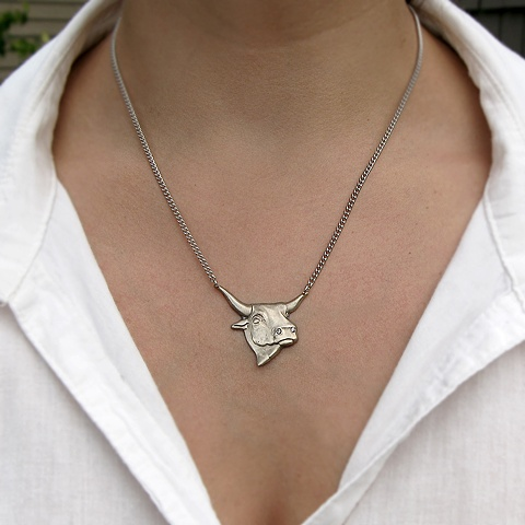 White Bull Necklace