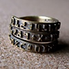 NUMBER BAND WRAP RING