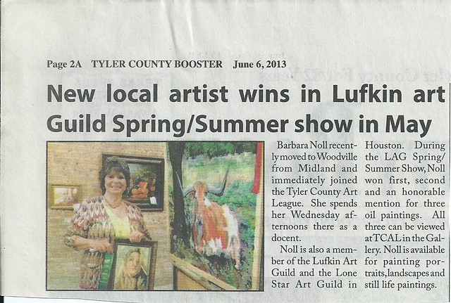 Lufkin Art Guild Show, May, 2013