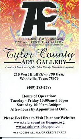 Tyler County Art Gallery, 2013