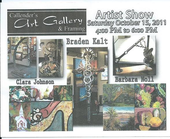 Callender's Art Gallery, October, 2011