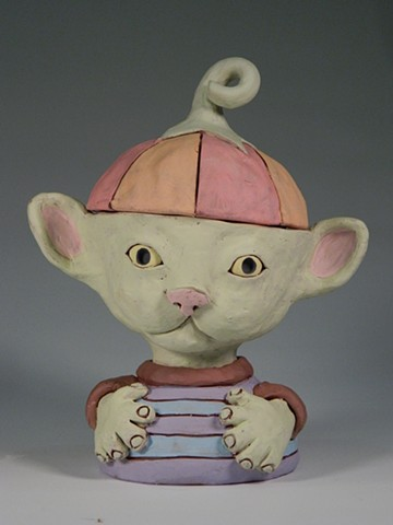 Kitty Creature Lidded Jar