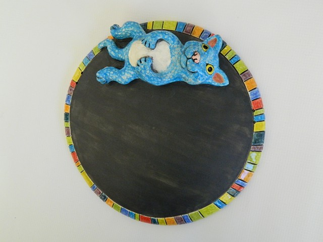 Blue Cat Chalkboard
