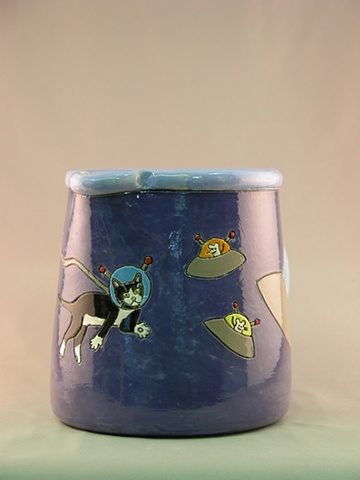 Cats in Space Pitcher