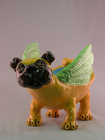 Winged Pug Bowl