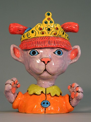 Tiara Kitty Lidded Jar