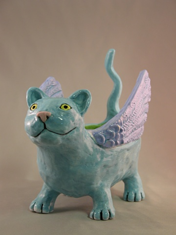 Winged Cat Bowl