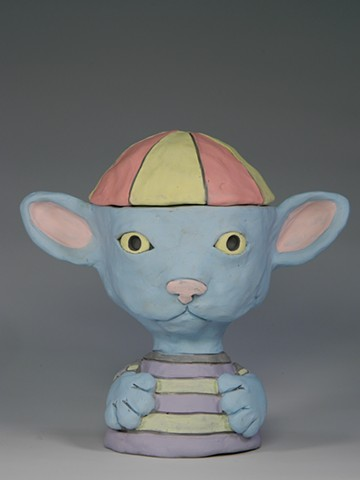 Beanie Kitty Lidded Jar