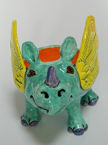 Winged Rhino Bowl