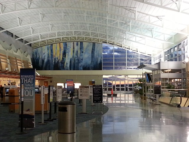 The Boise Airport Ticketing Area Mural