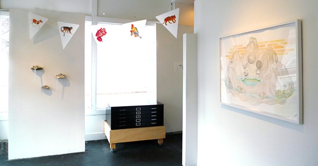 Installation view of Archipelago, front room