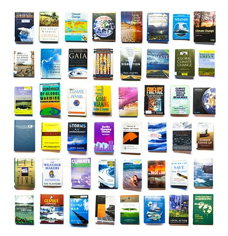 A selection of 48 volumes from the year-long collection of books on climate change