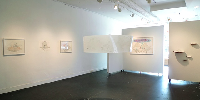 Installation view of main room ('Arctic Cyclorama' in center)
