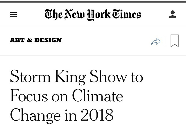 Indicators: Artists On Climate Change : Project for Storm King : Windsor, NY : May–Nov 2018