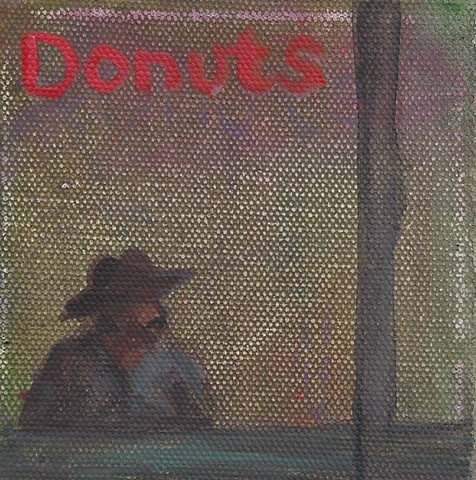 July 2 A Mexican man sitting in a Chinese donut shop in the mission...one thing I love about SF.
