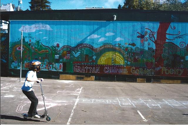 Grattan School Poetry and Garden Wall mural
