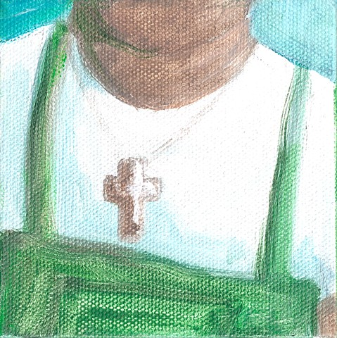 January 27  Latino grocery worker with cross necklace