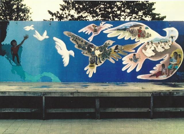 Mural en la lucha...Nicaragua