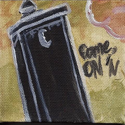 May 3 I thought this graffiti artwork was amusing.
