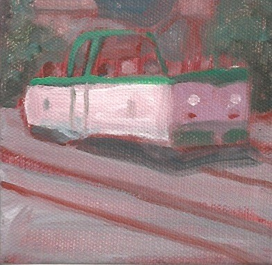 July 29 The F Market open streetcar. I've been just missing it for years, and I did it again.