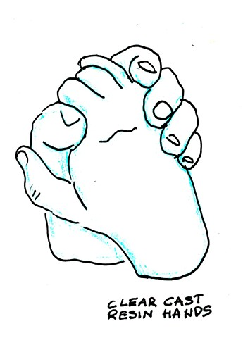 Sketch of proposed cast clear hands