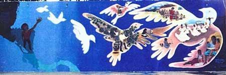 Mural en La Lucha...