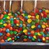 March 16  M&M caramel apples in the candy store window.  I resisted that temptation but gave in to the house-made chocolate.