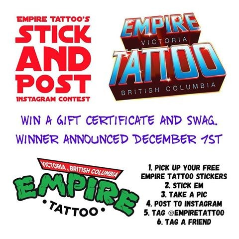 Empire Tattoo's Stick and Post Instagram contest!