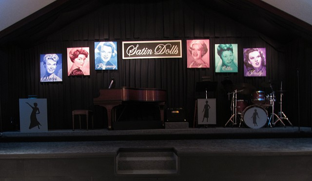 Satin Dolls Stage Set Theatre