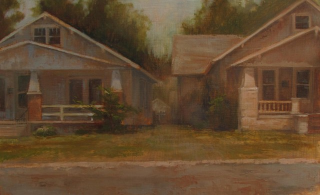 Newton Kansas oil painting bungalow Bethel College