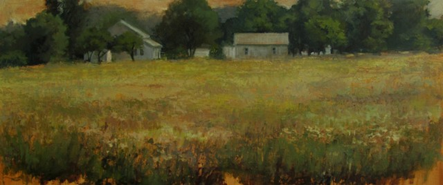 meadow oil painting debra payne farm plein air newton kansas