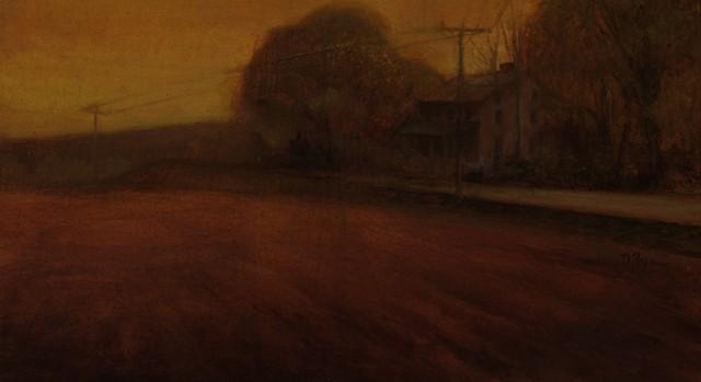 Oil painting Boone farm Newton Kansas Bethel College plein air
