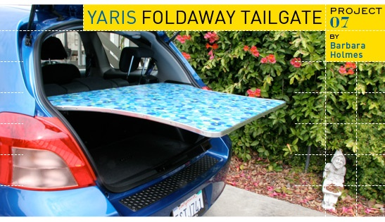 Fold away Tailgate table.