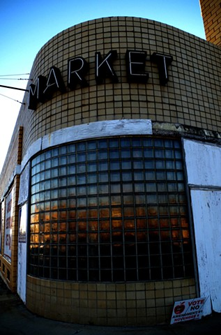Market.  the front of the South Georgia Ice Company (formerly a grocery store) in Tifton, GA.
