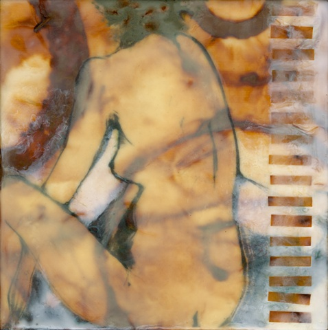 Oxide Figurative Encaustic Painting