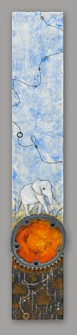 Safari Ride, Encaustic Painting by Pam Nichols RIDE show