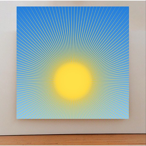 Sun painting, John Zoller Art, Miami artist, Luminous Disk by Jihn