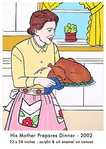 Possibilities Are Endless by John Zoller, Painting by John Zoller, Mirror Painting, Painting of a Mirror, Painting Drawing Seriens by John Zoller, Color and Learn Series by John Zoller, Coloring book art,  Mother, Turkey, Mom with Turkey, Thanksgiving, Mo