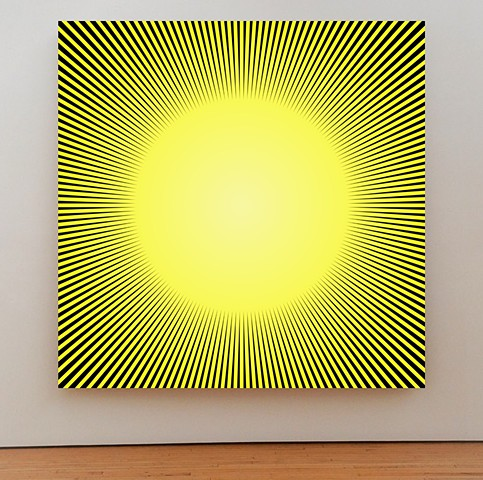 Sun Painting, John Zoller painting, Miami Artist, John Zoller Art, Burst Of Light Series, Warmth Received by John Zoller, East Hampton, London, Miami, NYC Art, SVA, Art Gallery, Art Museum , Art Blog, Art Curator,