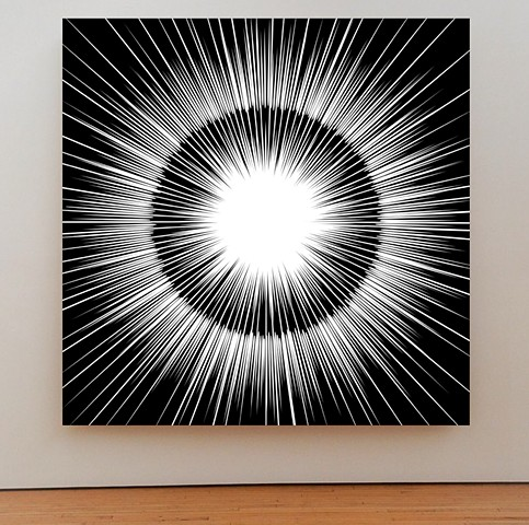 Burst of light series by John Zoller, explosion paintings , Miami artist, art basel Miami ,art studio, art gallery, explosive
