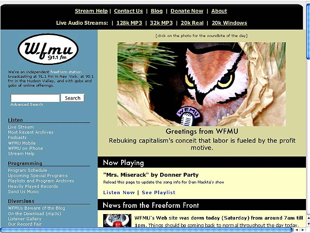 Owl Loves WFMU